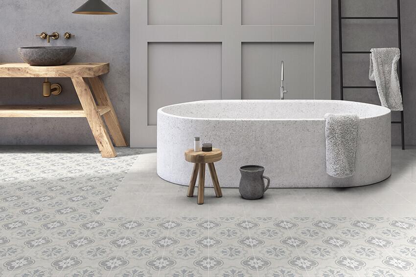 Grain and Groove Bathroom Tiles