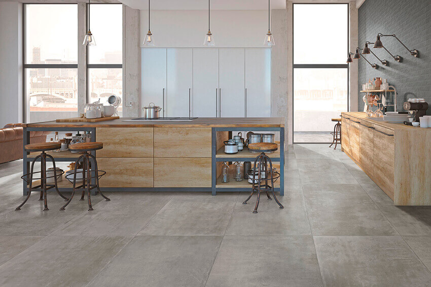 Grain and Groove Kitchen Tiles